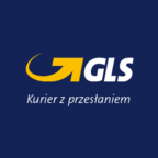 Logo GLS. Courier with message